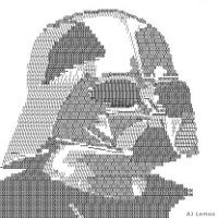 Darth Vader ascii